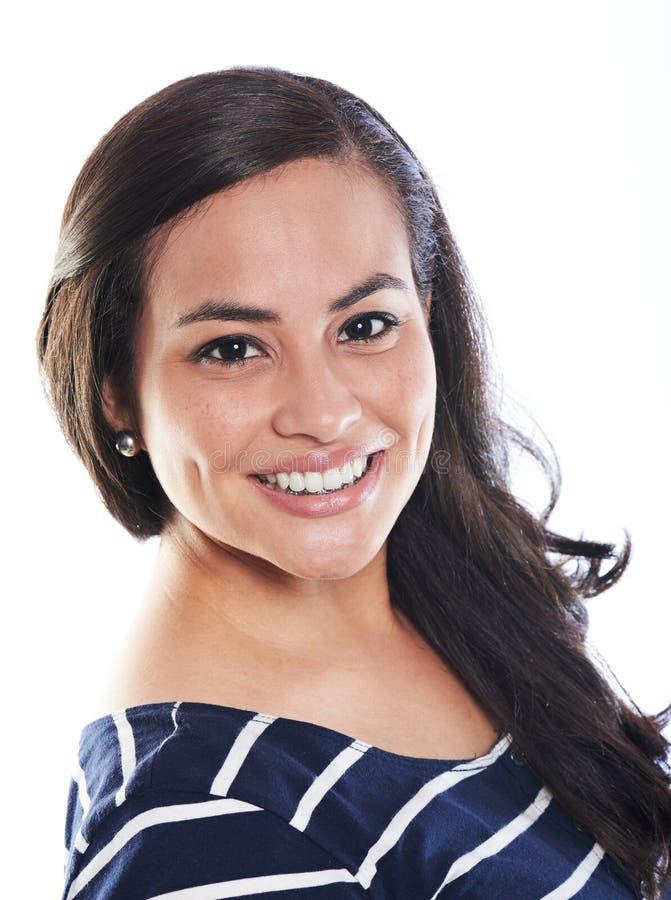 Smiling pretty woman stock photo