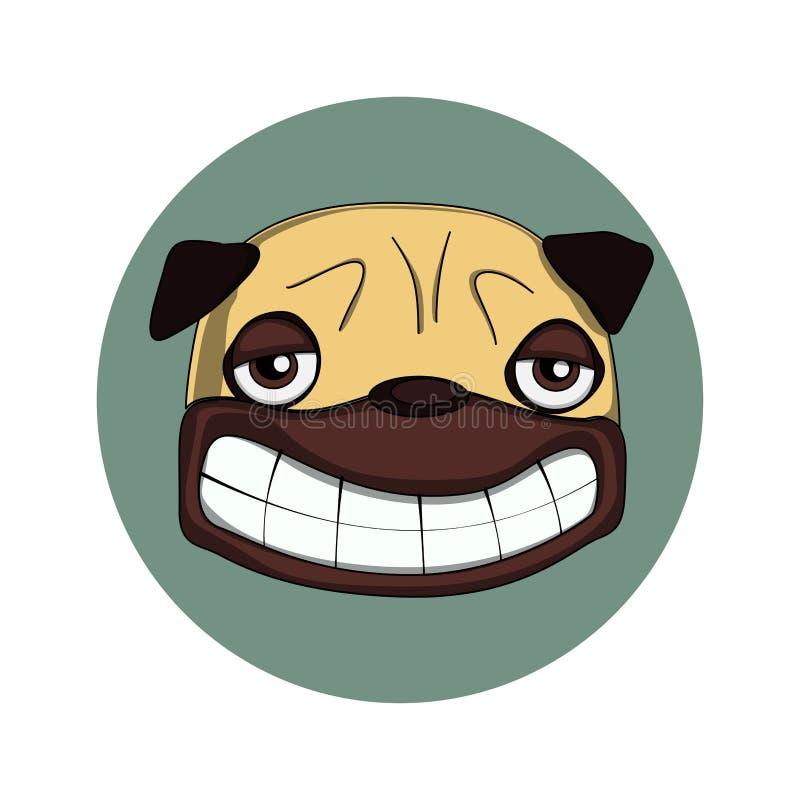 Smiling pug stock photography