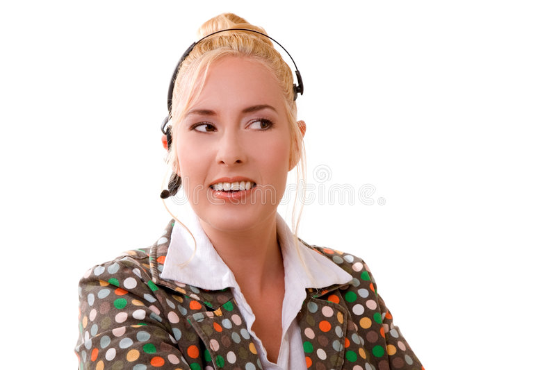 Download Smiling receptionist stock photo. Image of center, computer - 2820138