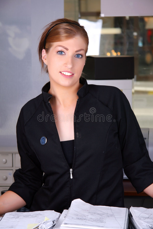 Download Smiling receptionist stock image. Image of customer, smile - 5300663