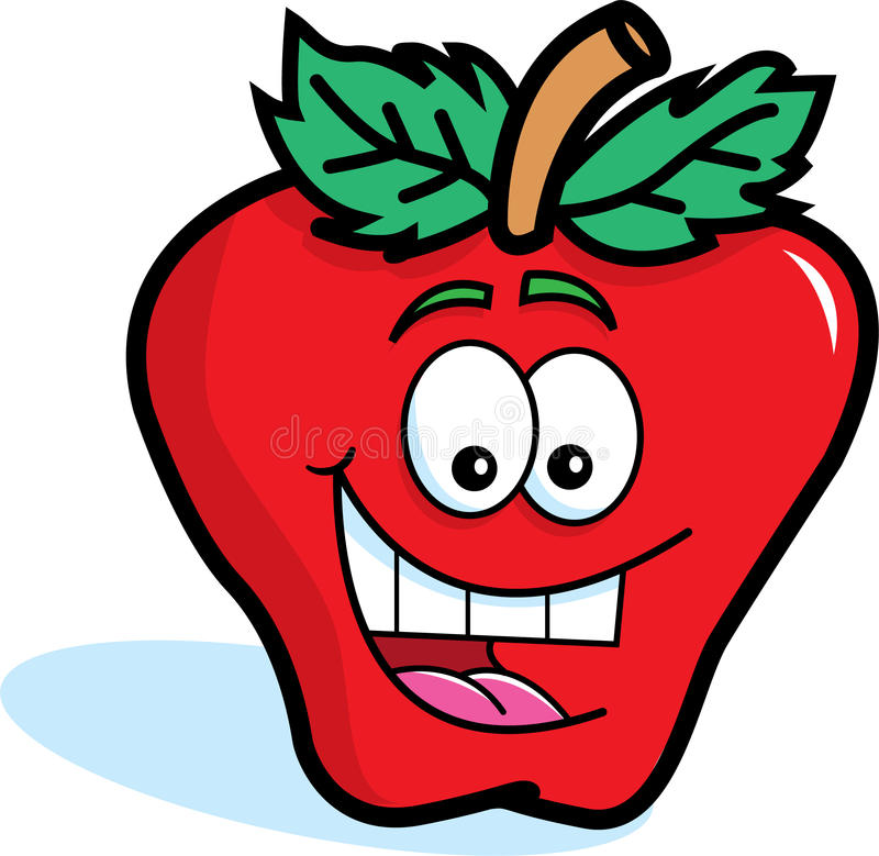 Download Smiling Red Apple stock vector. Image of food, fruit - 25520797