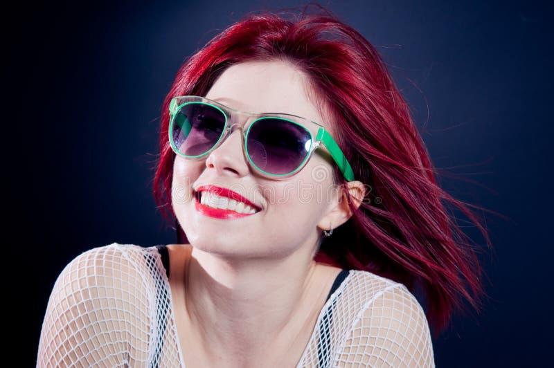 Smiling Redhead Girl Stock Photo