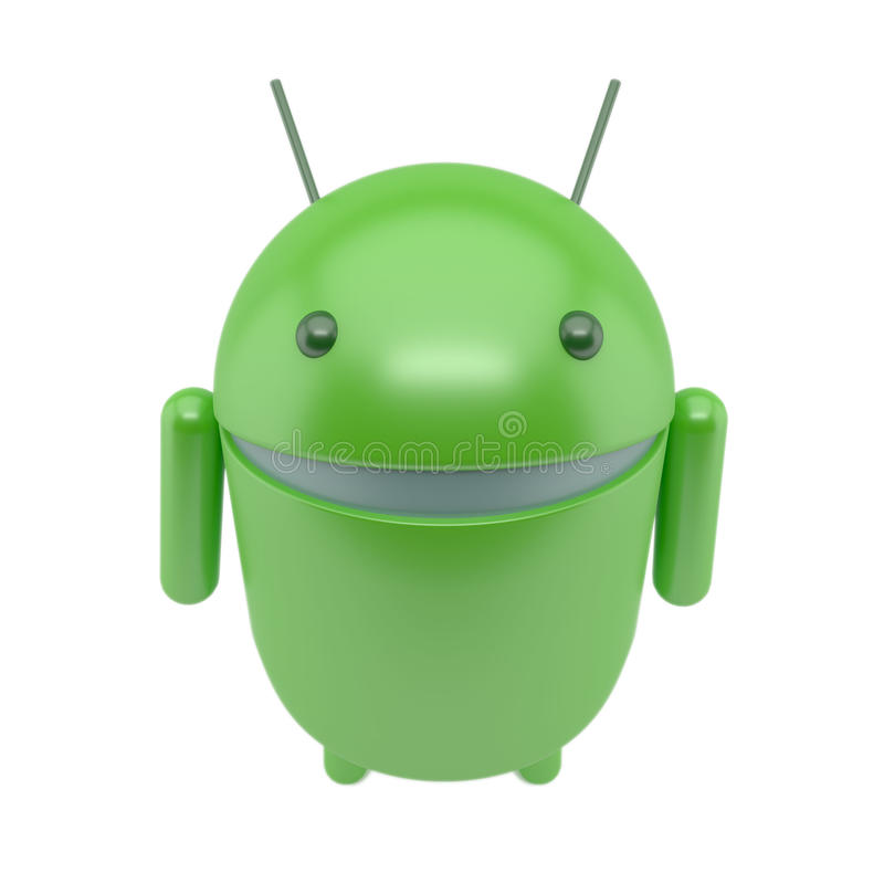 Smiling robot android vector illustration