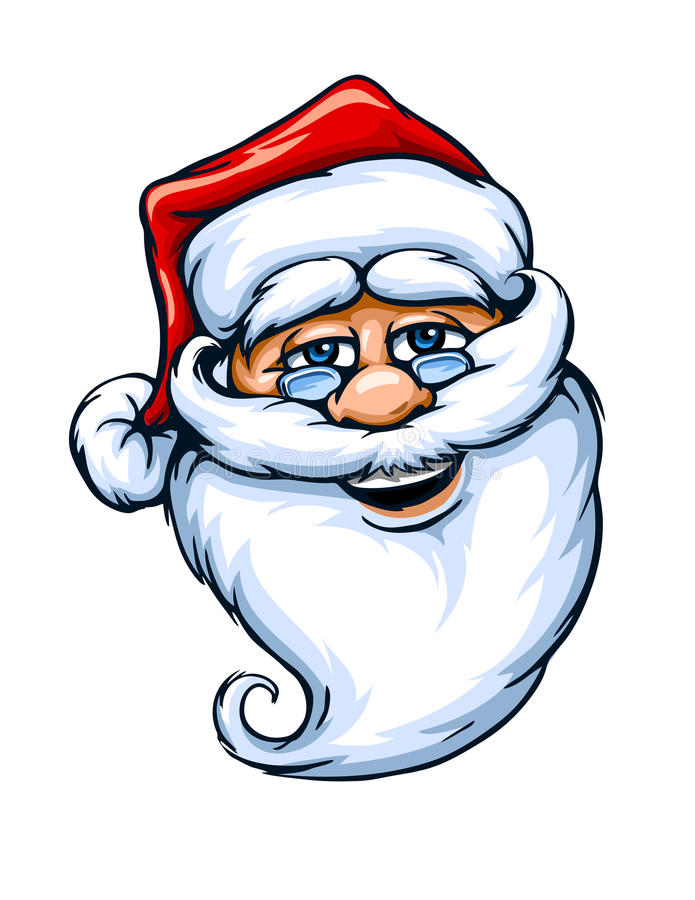 Smiling Santa Claus face. Vector illustration isolated on white background EPS10 stock illustration