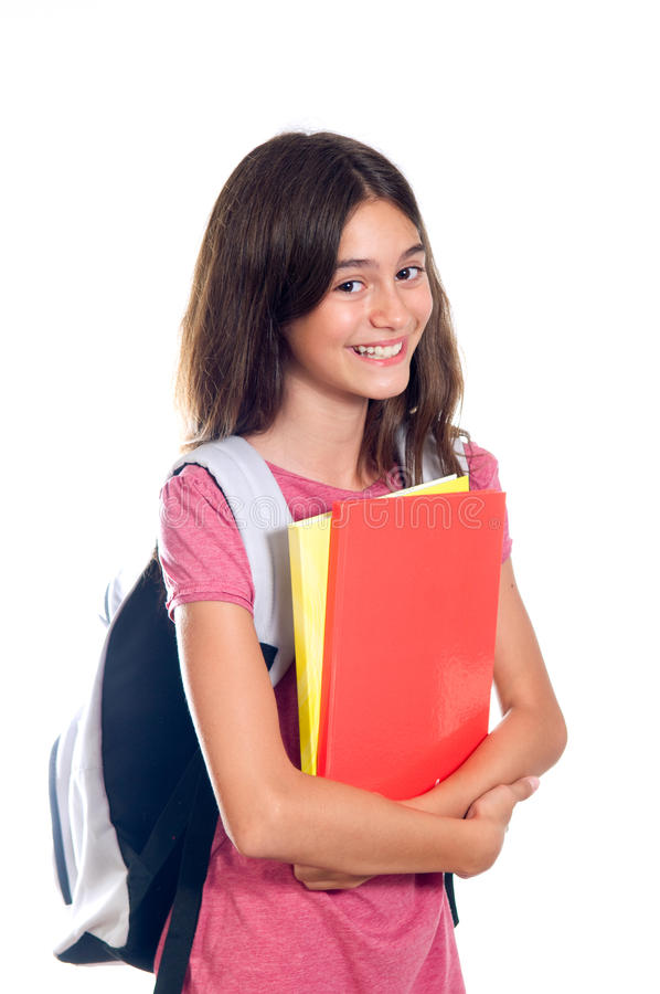Download Smiling schoolgirl stock image. Image of holding, student - 26099531
