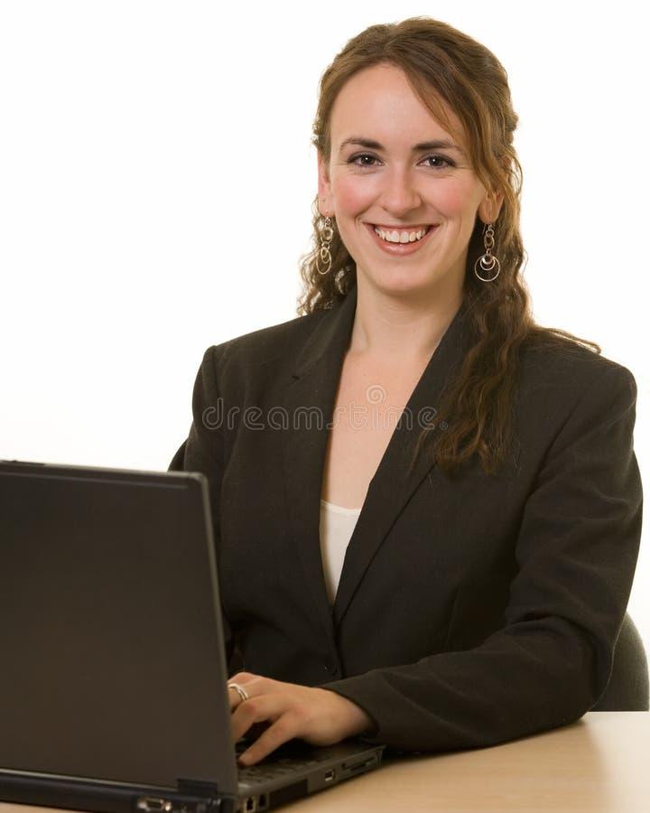 Smiling secretary stock image
