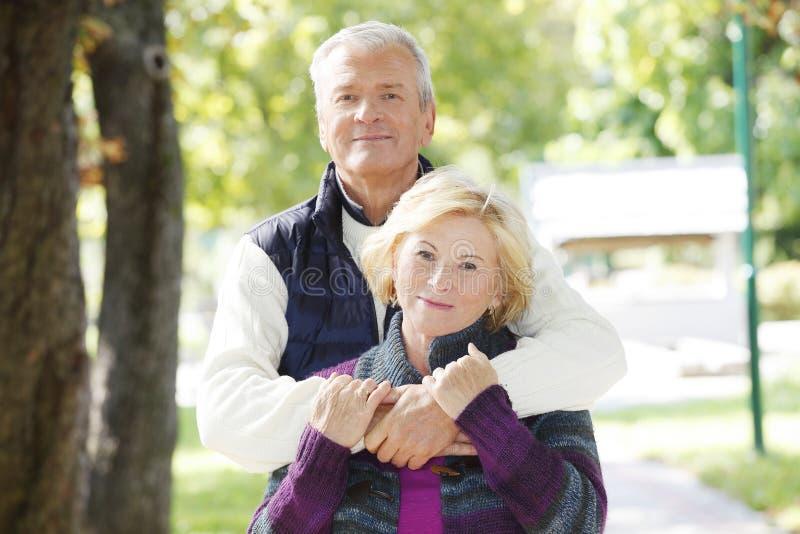 Smiling senior couple royalty free stock photography