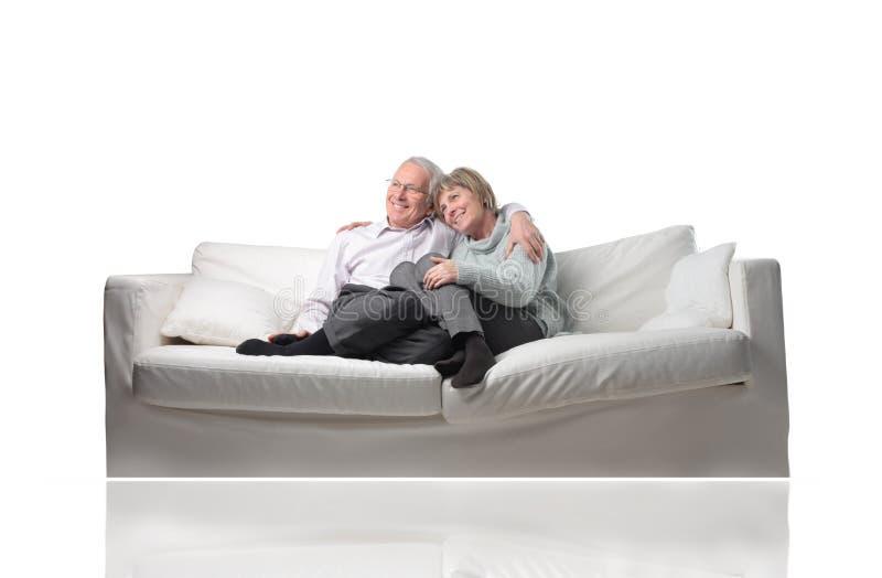 Smiling senior family royalty free stock photo