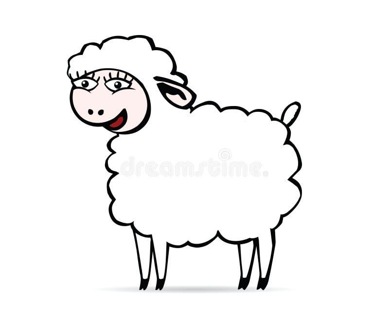 Smiling sheep stock illustration