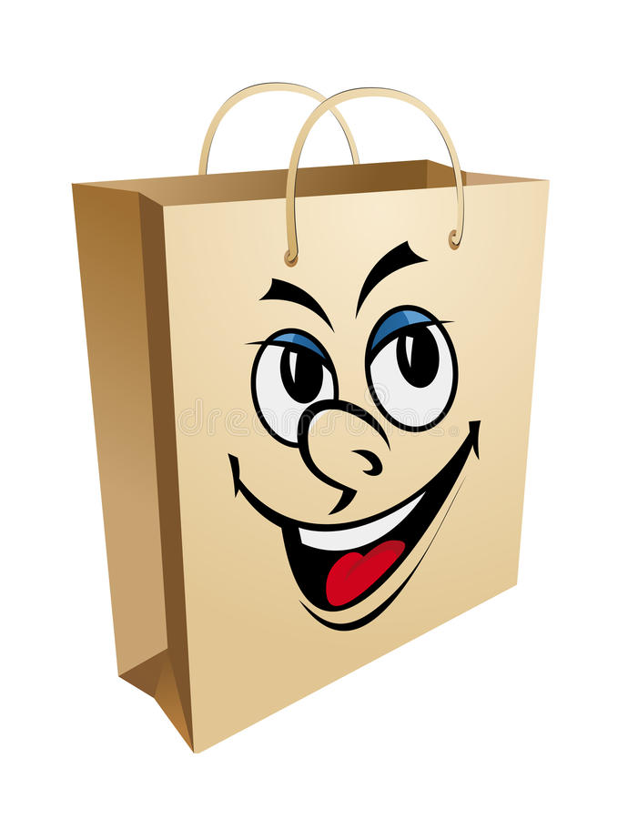 Download Smiling shopping bag stock vector. Image of food, retail - 21994170