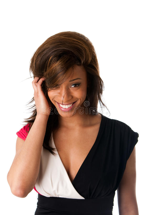 Download Smiling Shy African Woman Stock Images - Image: 13516464