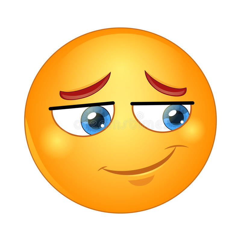Free Smiling Shy Emoticon. Vector Illustration. Stock Photos - 90578283