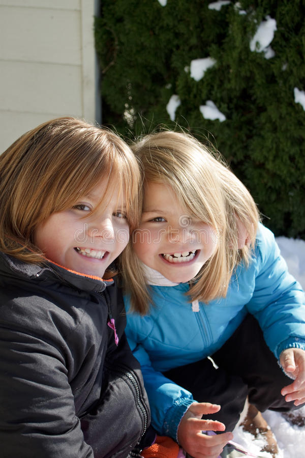 Smiling Sisters royalty free stock images