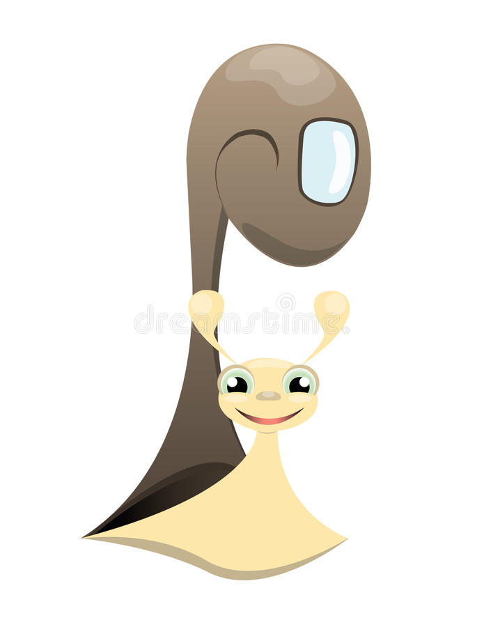 Download Smiling snail stock vector. Image of happiness, small - 28064362