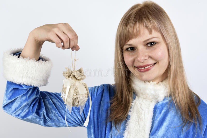 Smiling Snow Maiden royalty free stock image