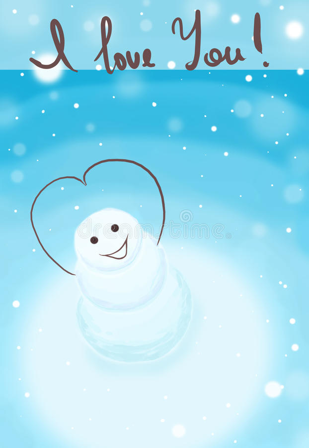Download Smiling snowman stock illustration. Image of fairy, love - 13038149