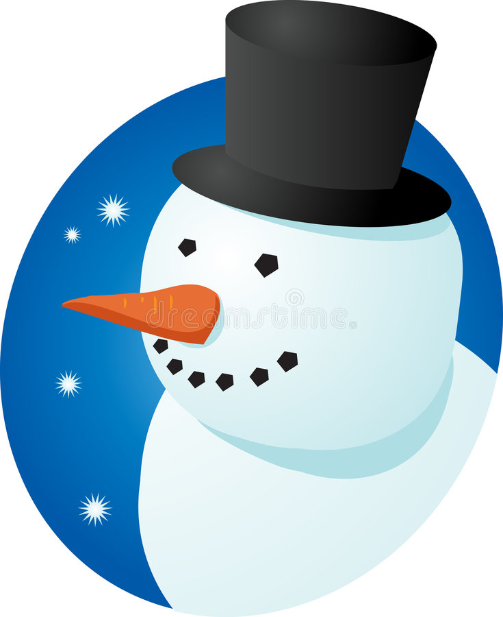 Download Smiling snowman stock vector. Image of tophat, snow, cheery - 5243090