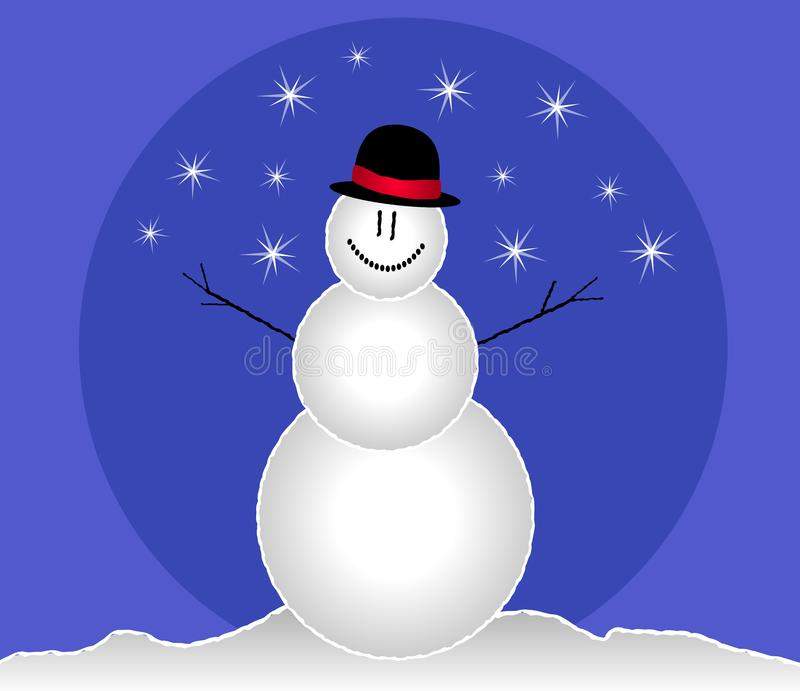 Smiling Snowman Clip Art royalty free stock photo