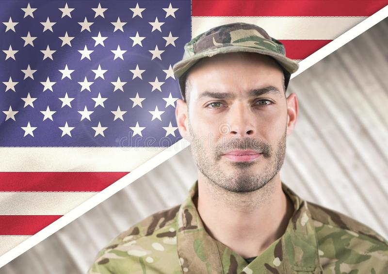 Smiling soldier for independence day royalty free stock images