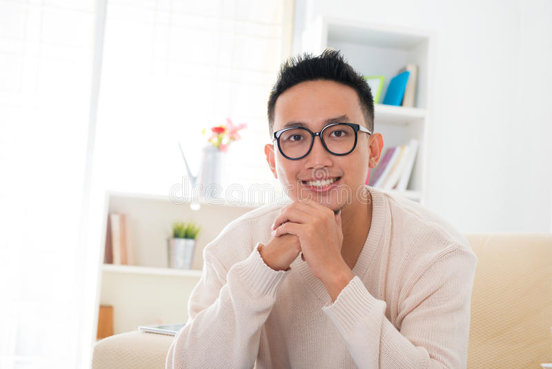 Smiling Southeast Asian Male Stock Photography