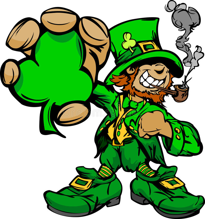 Smiling St. Patricks Day Leprechaun vector illustration