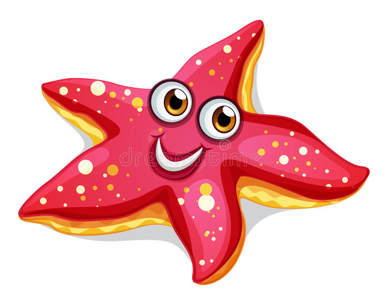 A smiling starfish stock illustration