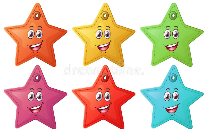 Smiling stars royalty free illustration