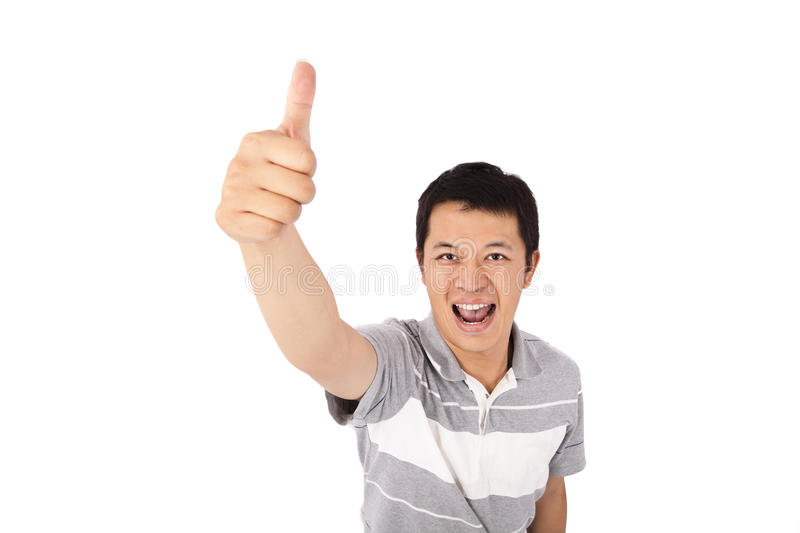 Download Smiling Student Gives His Thumbs Up Stock Photo - Image: 16956620