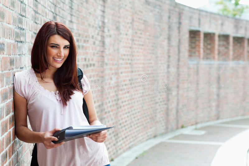 Download Smiling Student With Her Notes Stock Photo - Image: 21248384