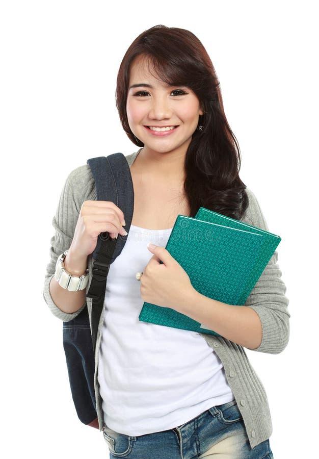 Smiling student stock photos