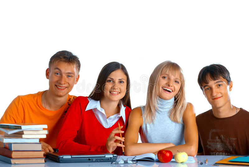 Download Smiling students stock photo. Image of classroom, caucasian - 11689294
