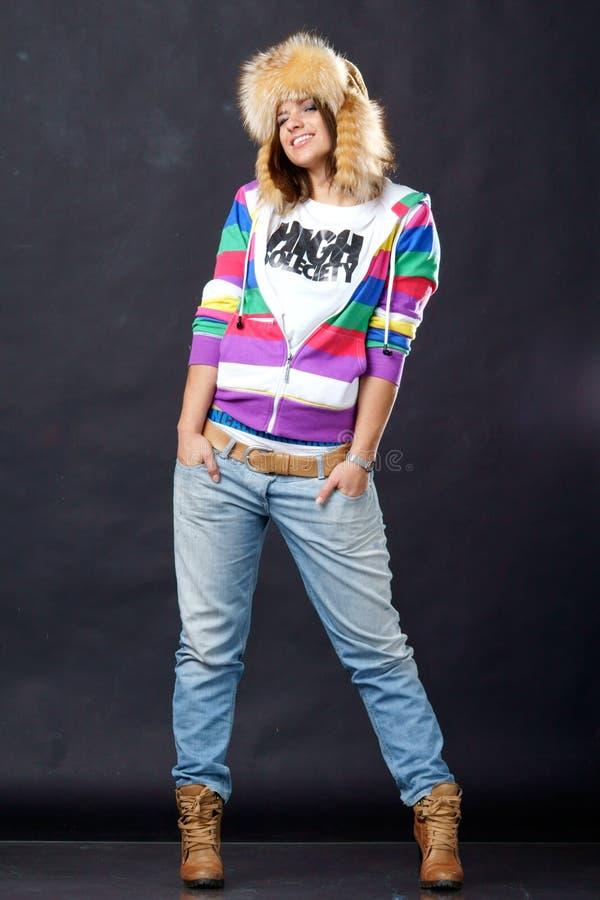 Smiling stylish girl stock image