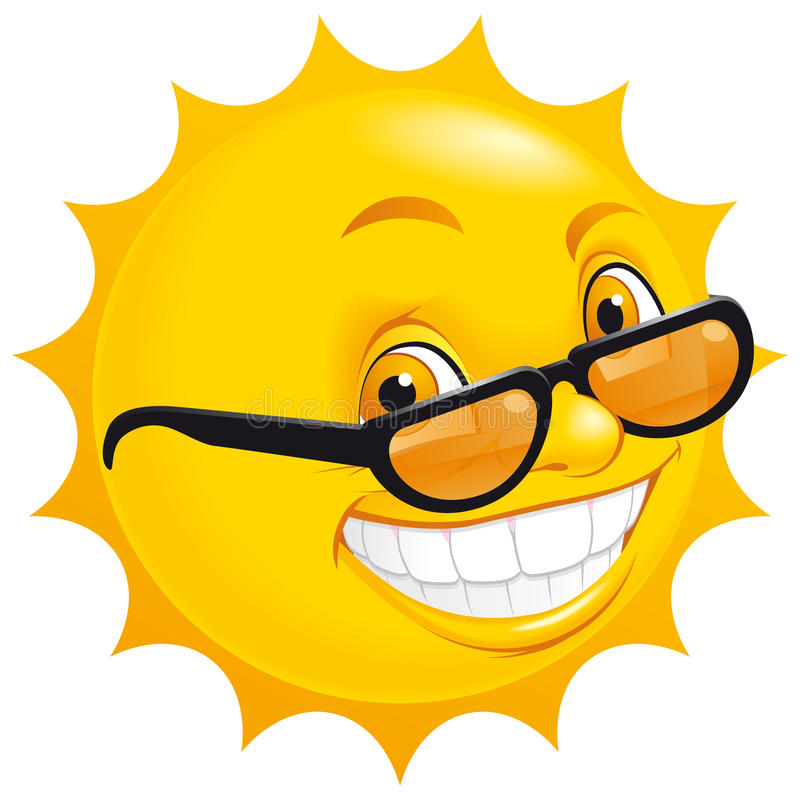Smiling sun royalty free illustration