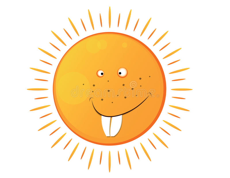 Download Smiling sun stock vector. Illustration of heat, light - 28203712