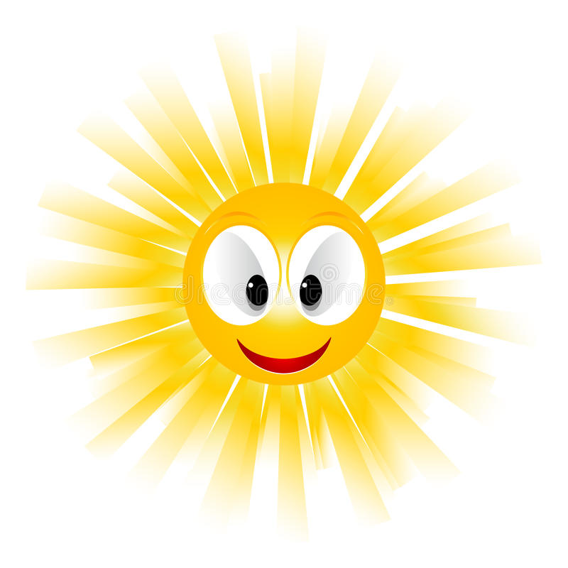 Smiling sun icon vector illustration