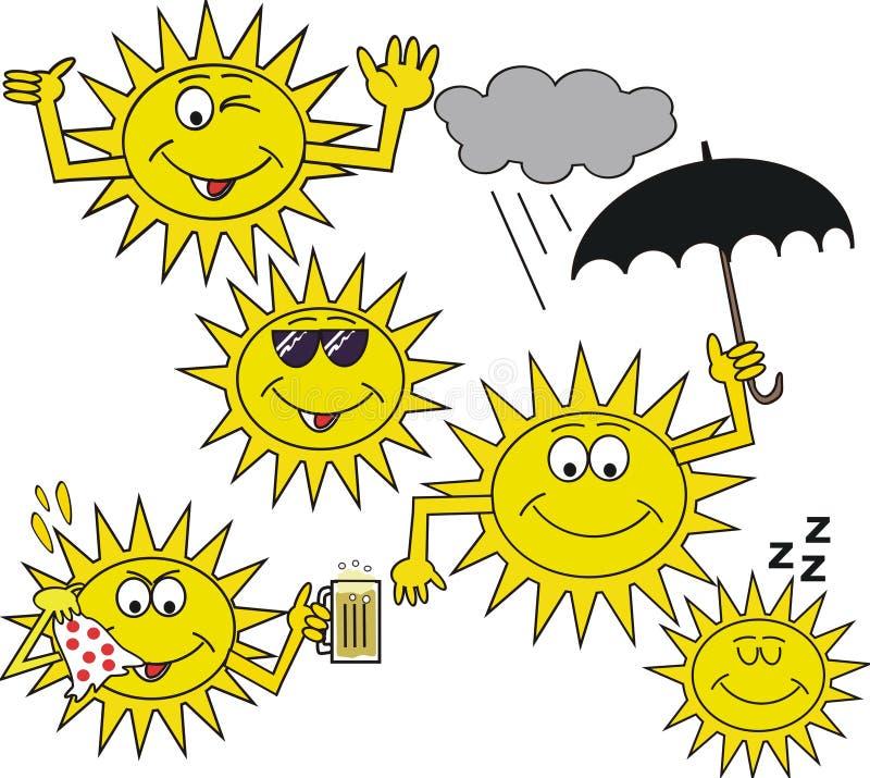 Download Smiling Sun Symbol Cartoon Royalty Free Stock Images - Image: 14652129