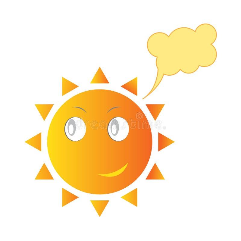Smiling Sun royalty free illustration