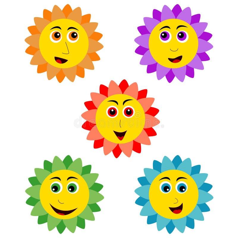 Download Smiling sunflower stock vector. Illustration of blossom - 27254554