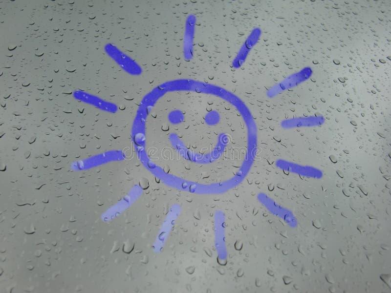 Smiling sunshine stock illustration