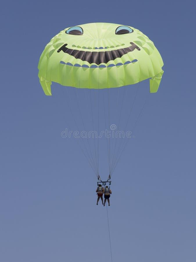 Download Smiling tandem parachute stock photo. Image of para, activity - 10511886