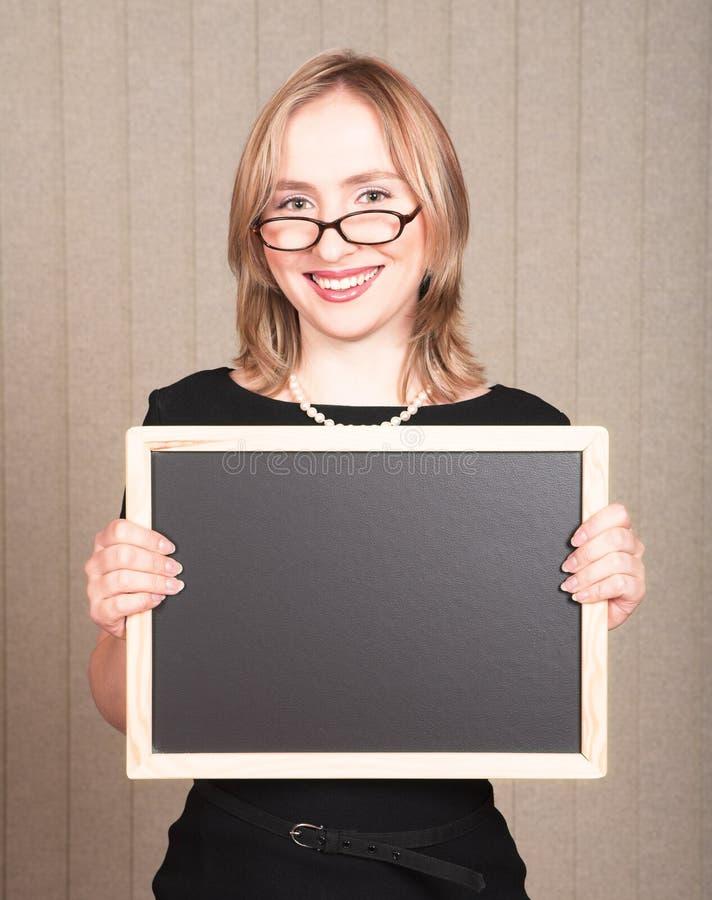 Smiling teacher stock photography
