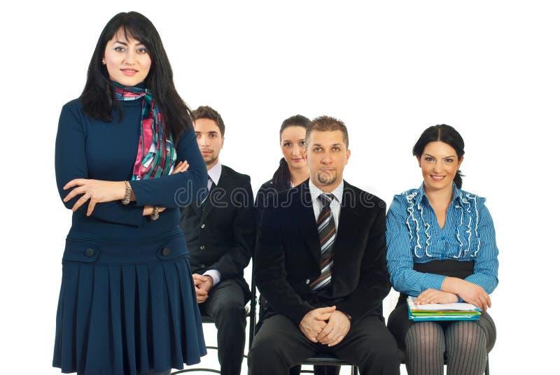 Download Smiling Teacher Businesswoman Stock Image - Image: 17999761