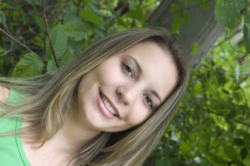 Smiling Teen Woman stock images