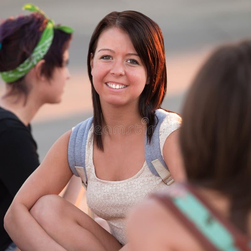 Smiling Teenage Girl stock images