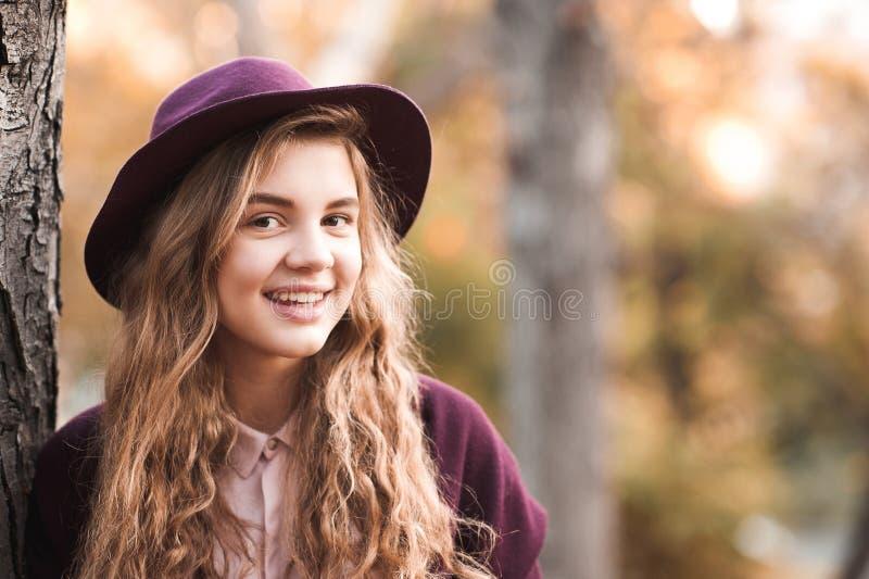 Stylish teen girl stock images