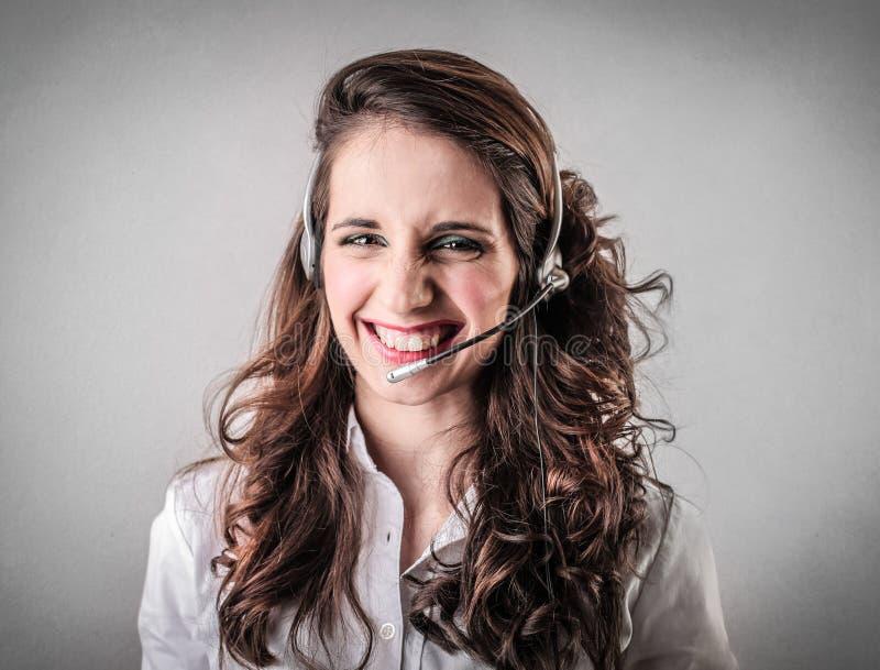 Download Smiling telephone operator stock image. Image of doubtful - 39504373