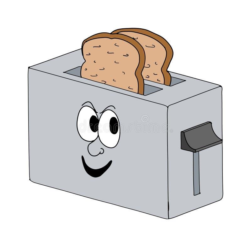 Smiling toaster stock illustration