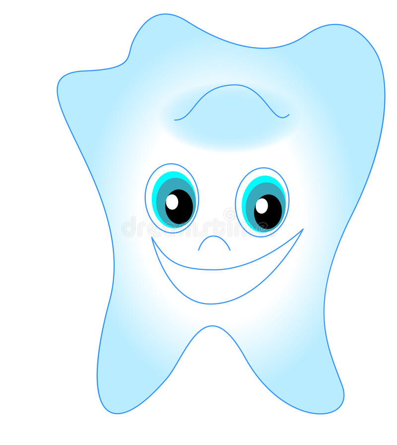 Smiling tooth vector illustration