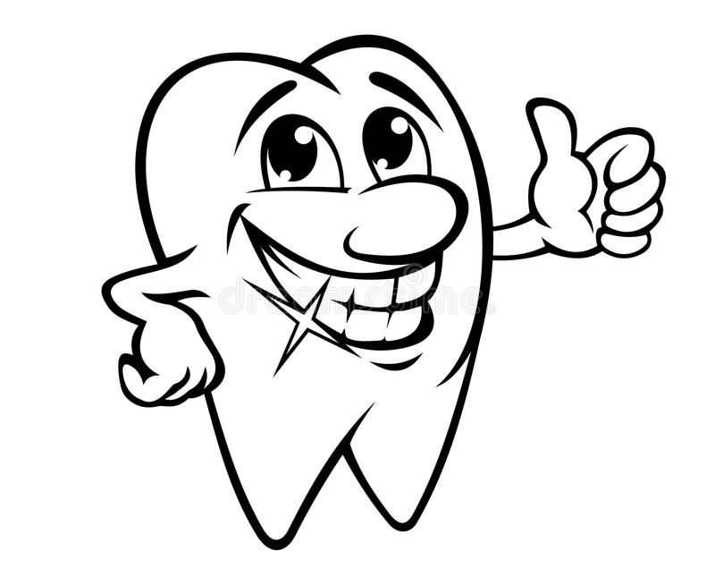 Download Smiling tooth stock vector. Image of dental, clean, grin - 27498600