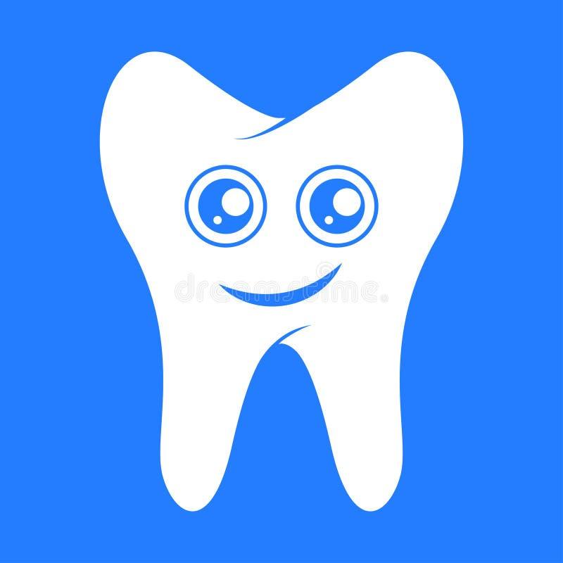 Smiling tooth, dental royalty free illustration